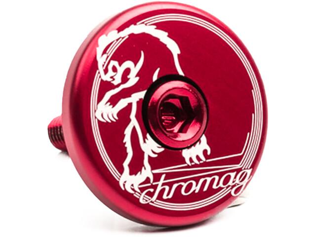 Chromag Top Cap red